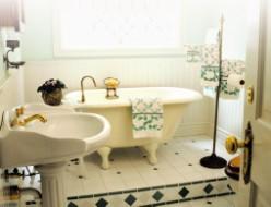 La salle de bains néo-rétro