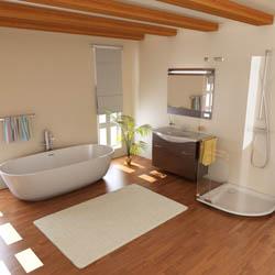 Déco : une salle de bain tout en bois