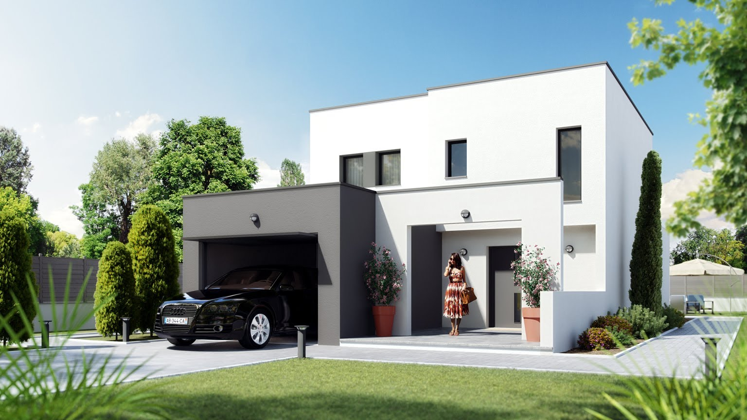salon maison neuve - Tva Construction Maison Neuve