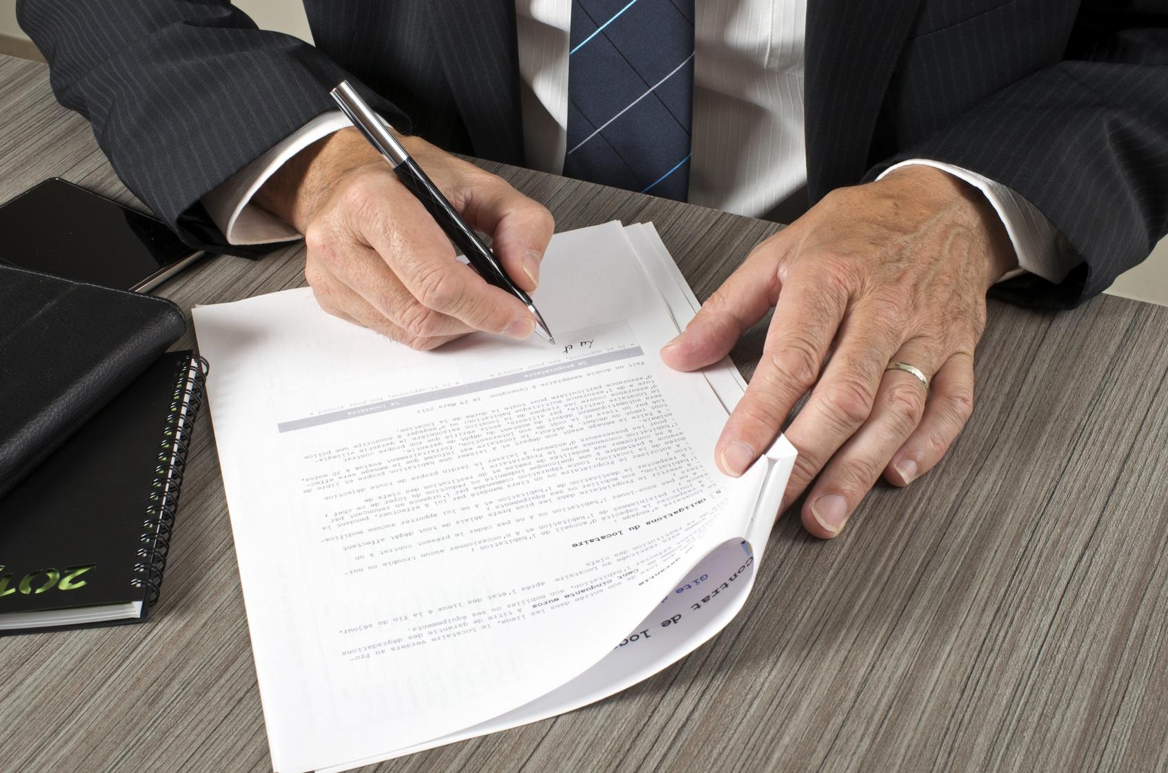 Signature acte de vente
