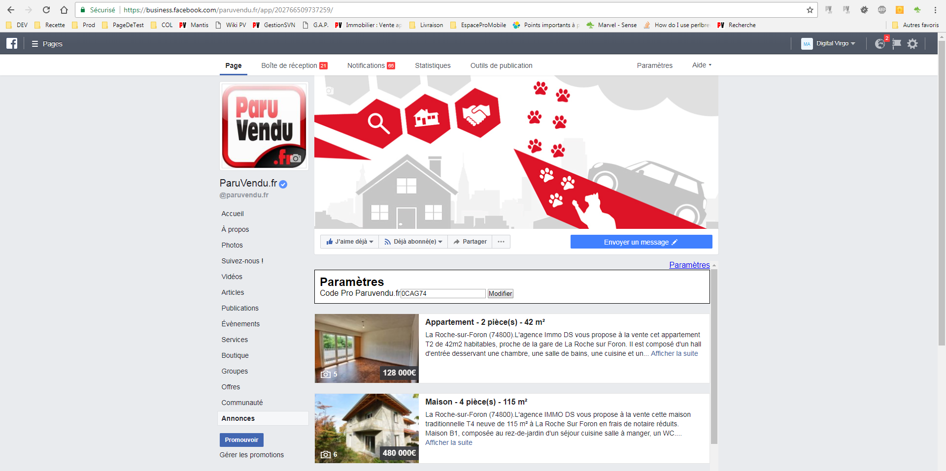 Onglet Annonce FB Tuto 4