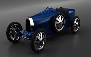 Bugatti présente le Baby II, une réplique de son fameux Type 35