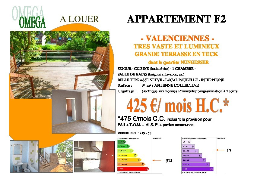 Annonce location appartement valenciennes 59300 35 m - Taxe ordures menageres logement inoccupe ...