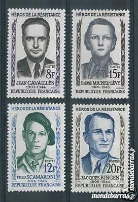 N° 1157 à 1160 timbres France