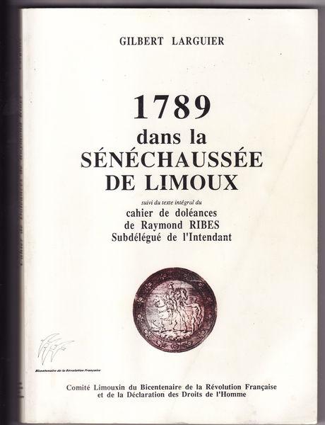 1789 dans la SENECHAUSSEE DE LIMOUX Livres et BD