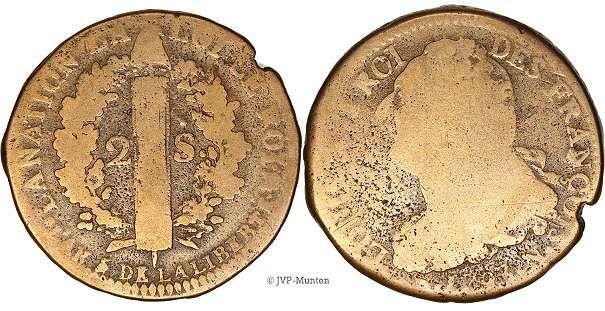 1793 N 2 sols Montpellier