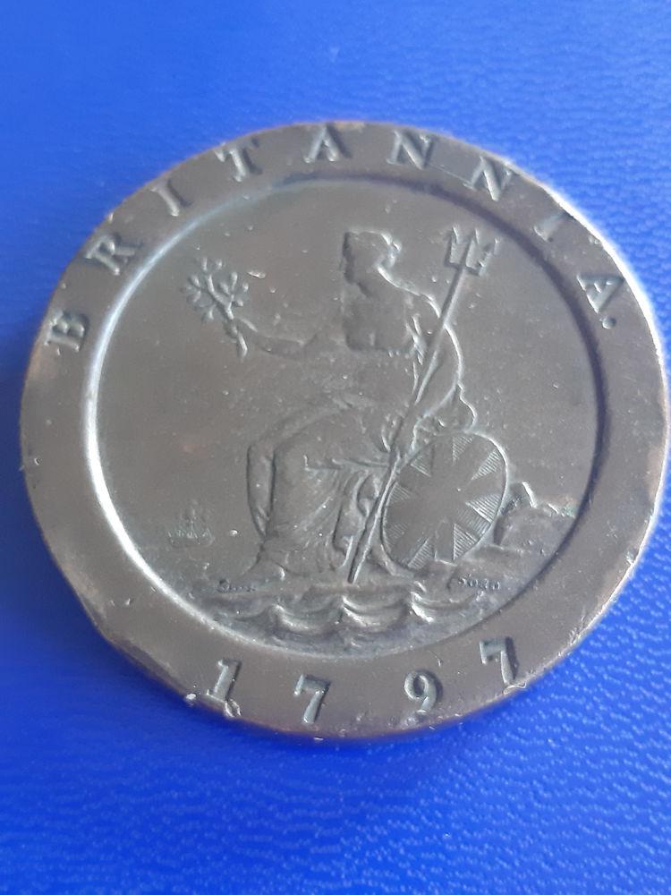 1797 Angleterre 2 deniers Cartwheel 79 Prats-de-Mollo-la-Preste (66)