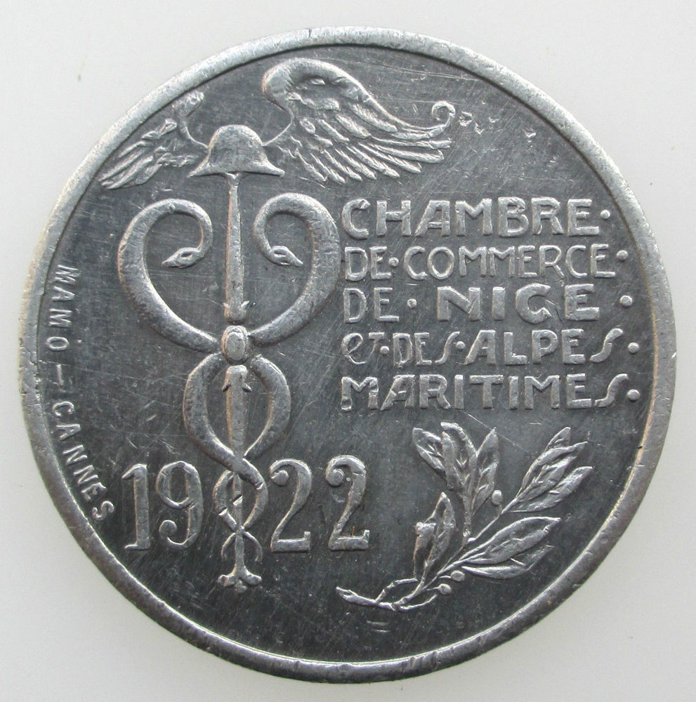1922 Chambre de Commerce Nice 10 centimes 4 Paris 2 (75)