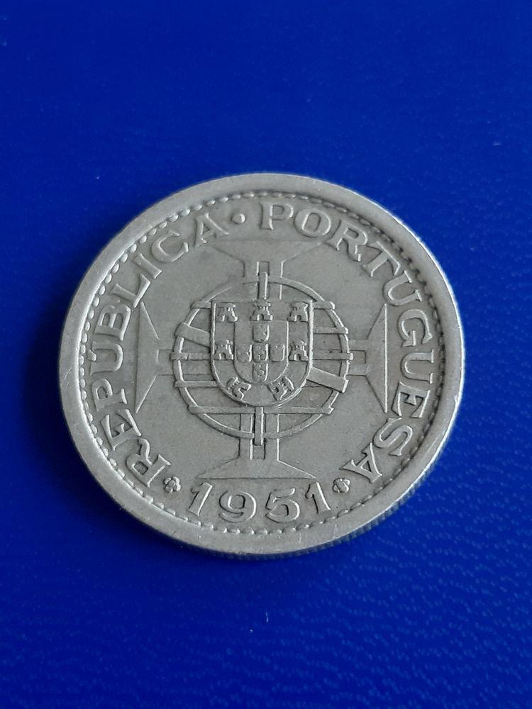 1951 Sao Tomé-et-Principe 5 escudos argent 14 Prats-de-Mollo-la-Preste (66)