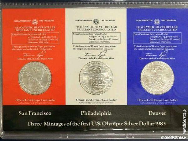 1983 OLYMPIC UNC 3PC P,D,S COLLECTORS ARGENT USA