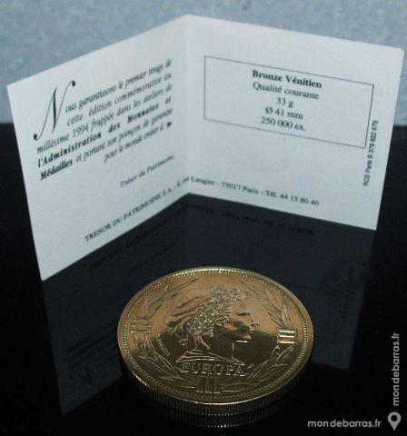 ECU 1994 EUROPA Bronze vénitien 'rare' 45 Antibes (06)