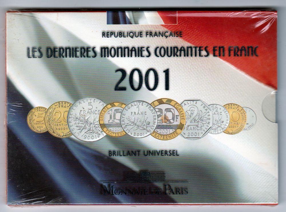2001 DENIERES MONNAIES COURANTE EN FRANC BU  35 Doullens (80)
