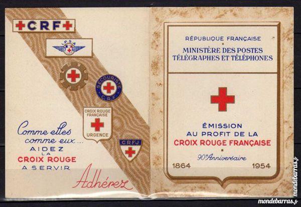 N° 2003 - CARNET CROIX ROUGE 1954