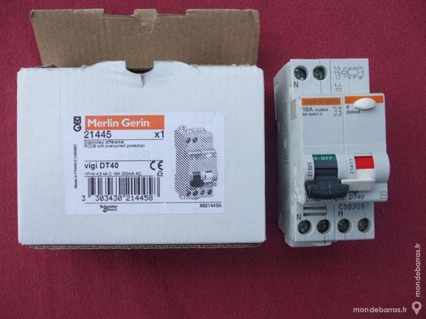 Réf 21445 DISJONCTEUR VIGI DT40 1P+N 16A 300mA AC 55 Tergnier (02)