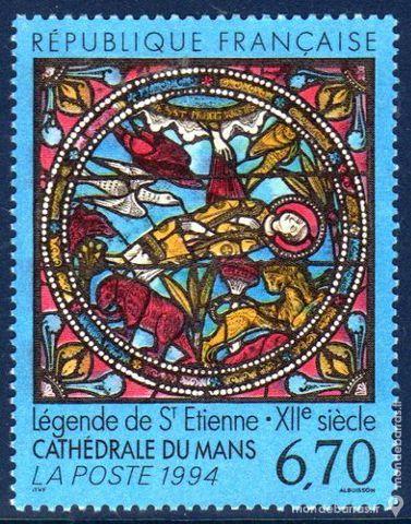 N° 2859 Timbre France NEUF** « TABLEAUX » An 1994 1 La Seyne-sur-Mer (83)