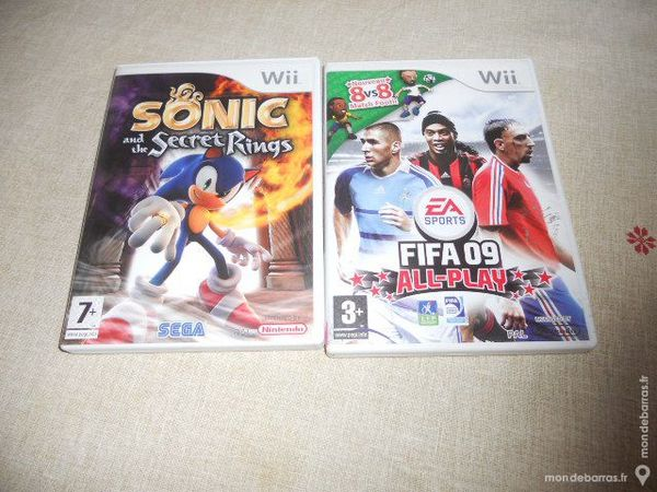 2jeux wii 1 sonic 1 fifa foot 12 Thivet (52)