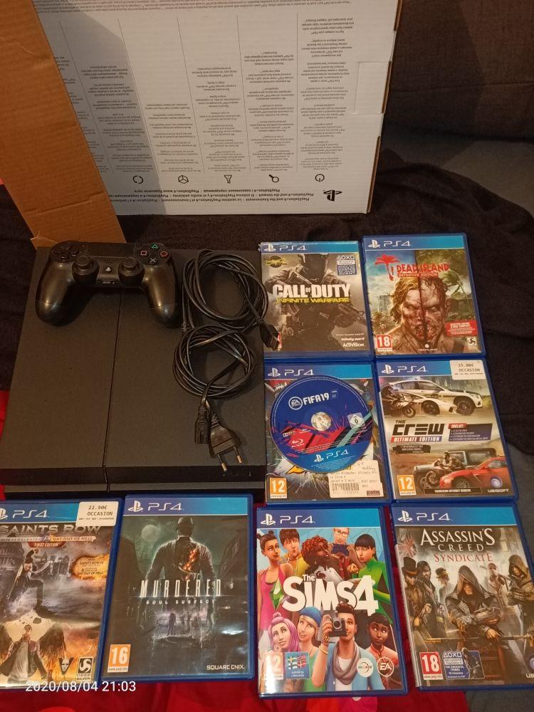 PS4 500Go 1 manette et 8 jeux, boîte d'origine 180 Mâcon (71)