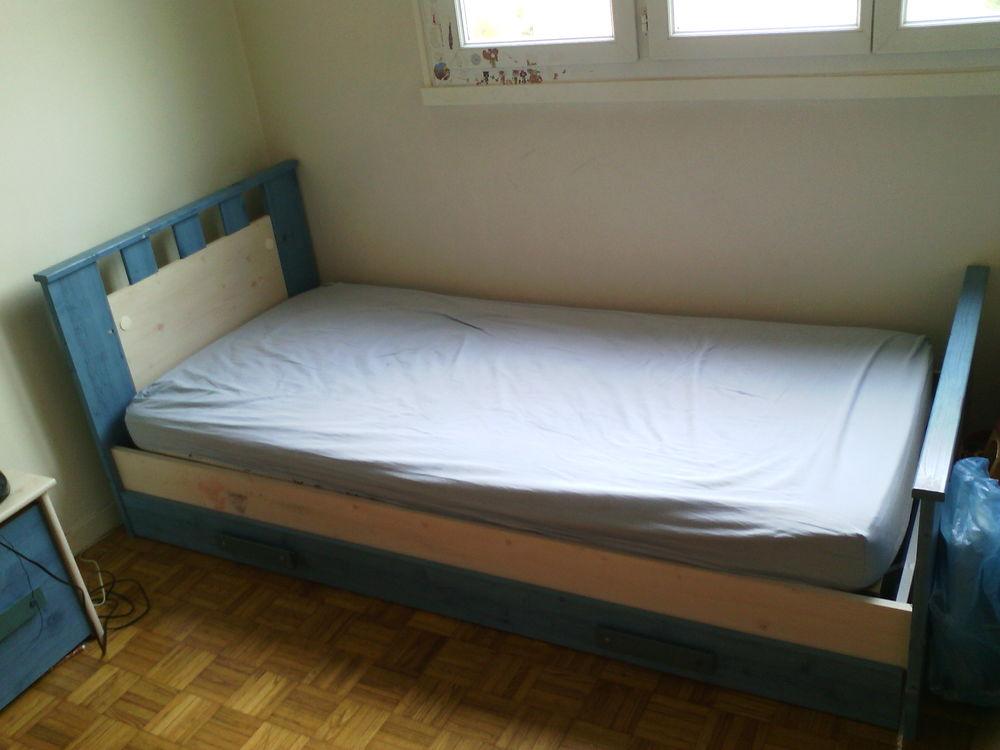 lit 90x190 avec tiroir + sommier + chevet 100 Villette-de-Vienne (38)