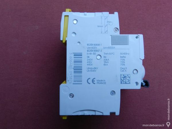 Réf A9F76420 DISJONCTEUR SCHNEIDER IC60N 4P 20A B 80 Tergnier (02)