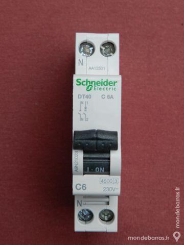 Réf A9N21023 DISJONCTEUR DT40 SCHNEIDER 1P+N 6A C 16 Tergnier (02)