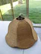 abat jour en osier ou rotin vintage - 39 cm x 27 cm