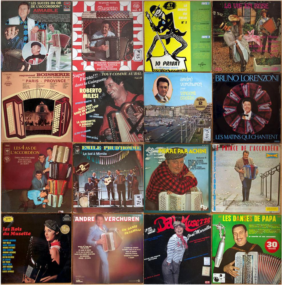 Accordeon lot de 16 vinyls 33 tours 20 Sanguinet (40)