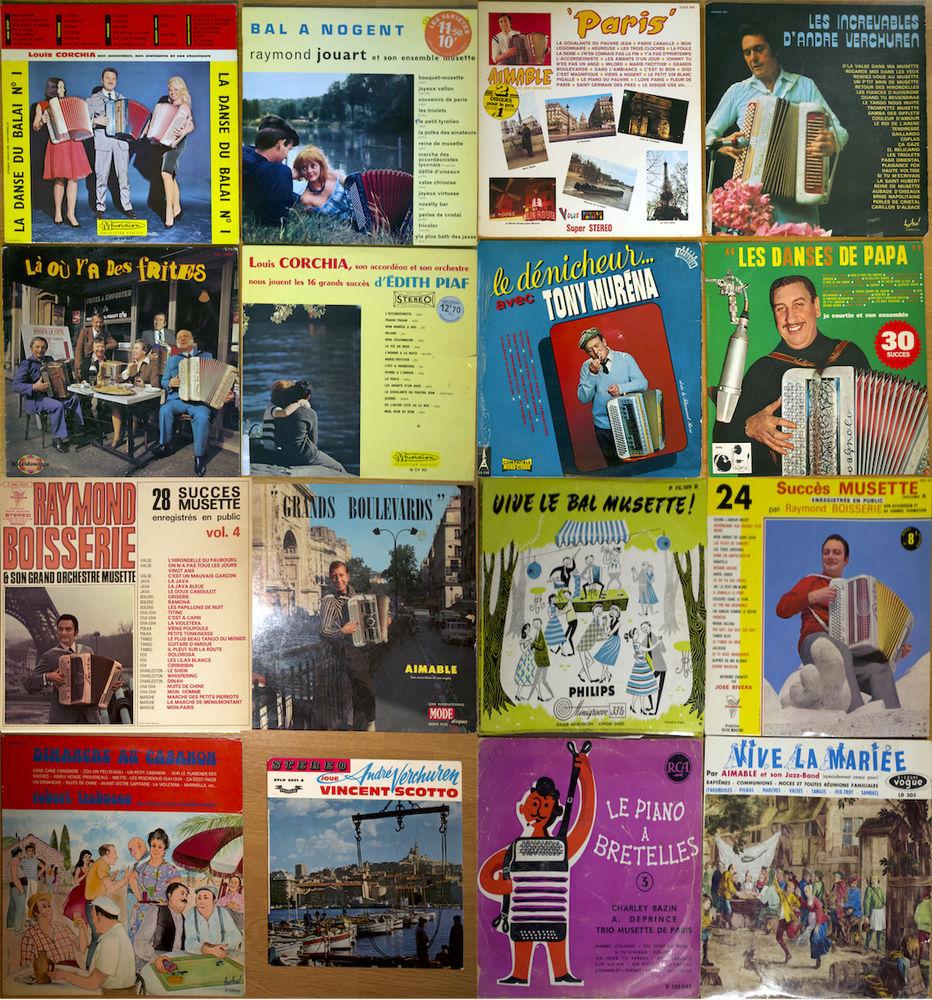 Accordeon lot de 16 vinyls 33 tours voir les pochettes. 20 Sanguinet (40)