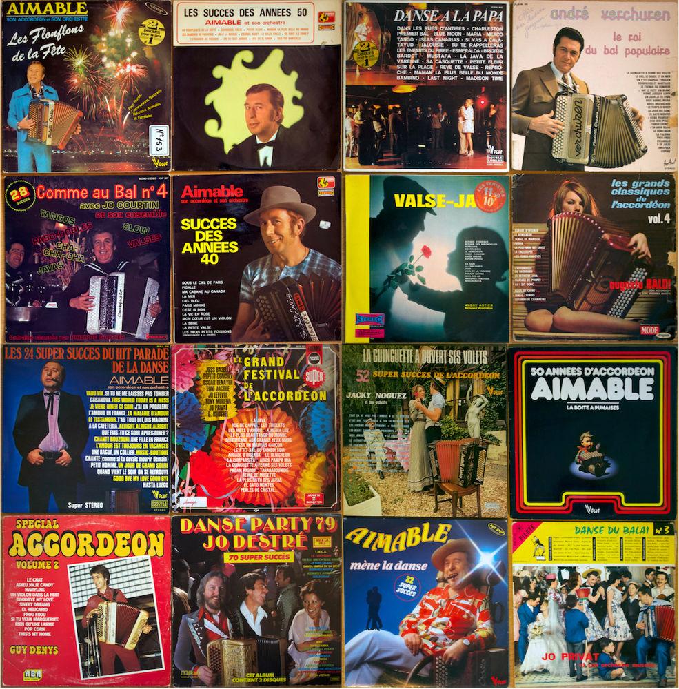 Accordeon lot de 16 vinyls 33 tours voir les pochettes 20 Sanguinet (40)
