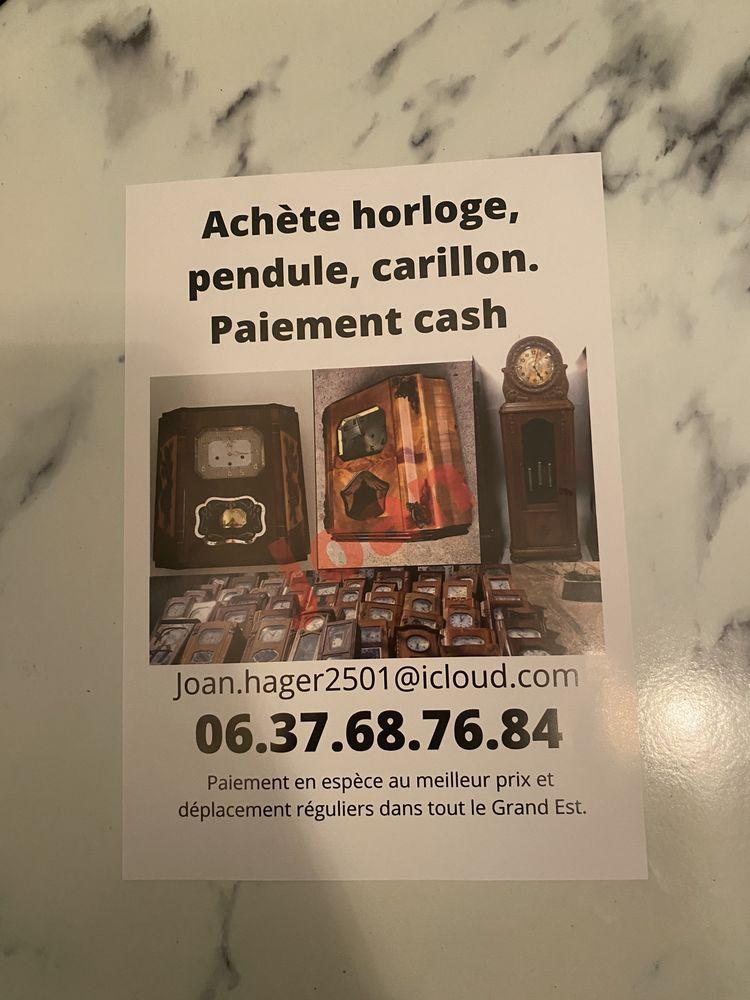 ACHÈTE AU MEILLEUR PRIX HORLOGE CARILLON COMTOISE PENDULE 100 Mulhouse (68)