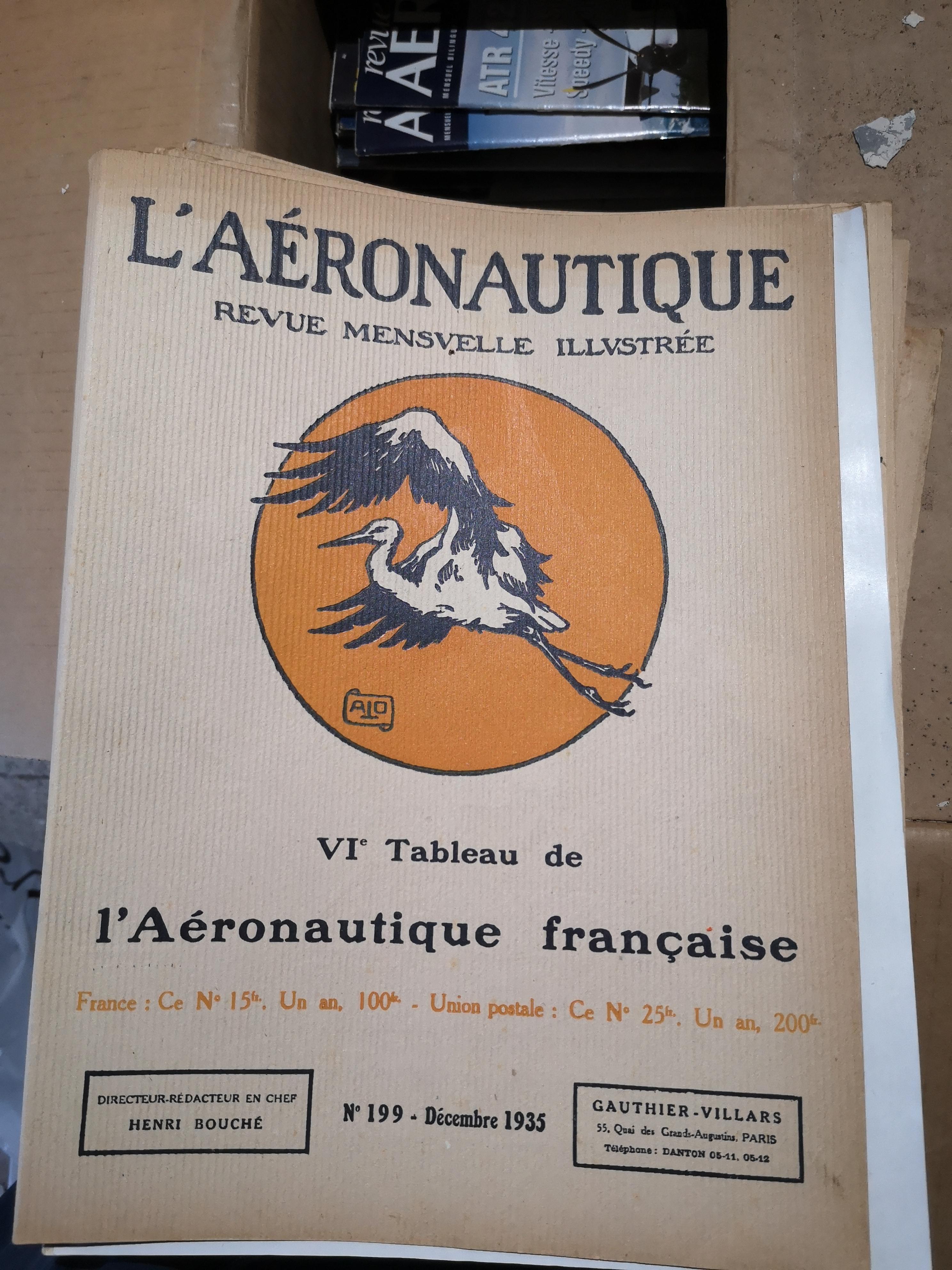 L'AERONAUTIQUE, Revue Mensuelle Illustrée 99 Saint-Victoret (13)