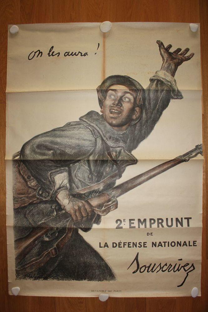 Affiche 1ère GM  On les aura , Abel Faivre - 1915 150 Toulouse (31)