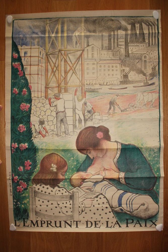 Affiche 1ère GM 'L'emprunt de la Paix  Henri Lebasque (1920) 200 Toulouse (31)