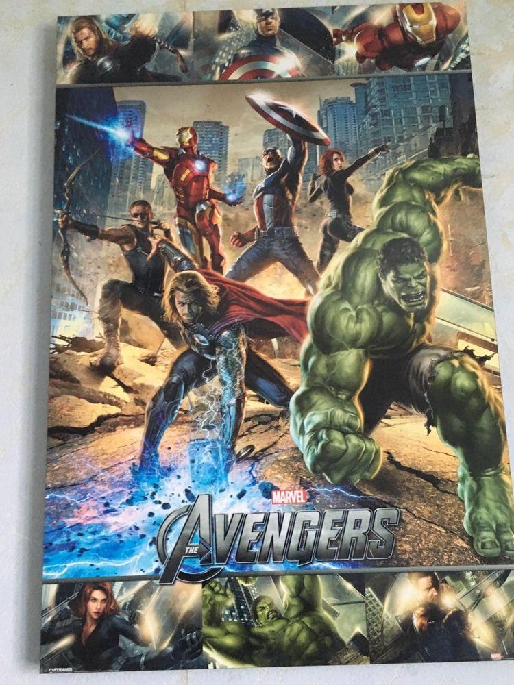 Affiche Avengers imprimée sur bloc bois 40 Arbonne (64)