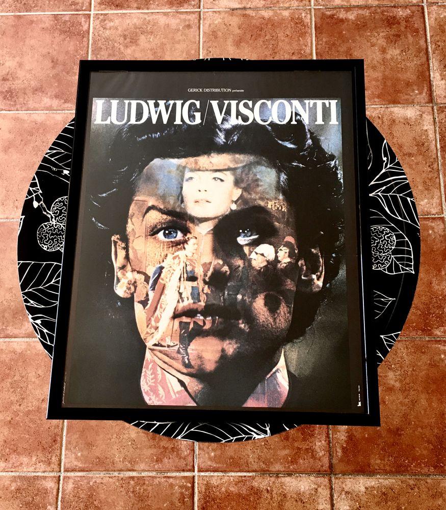Affiche de cinéma authentique Ludwig-Visconti,encadrée,neuve 160 L'Isle-Jourdain (32)