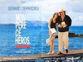 Affiche de cinéma  Mon père ce héros  1991 80X60 CM. 0 Strasbourg (67)