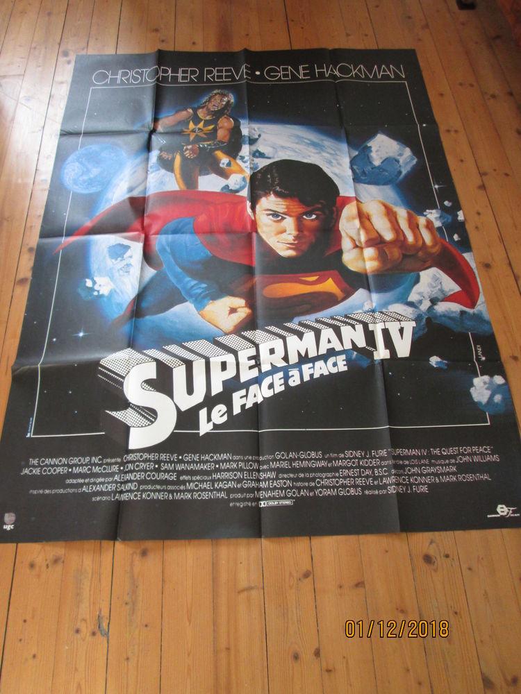 Affiche cinéma pliée 120/160 SUPERMAN 4  21 Saint-Lattier (38)