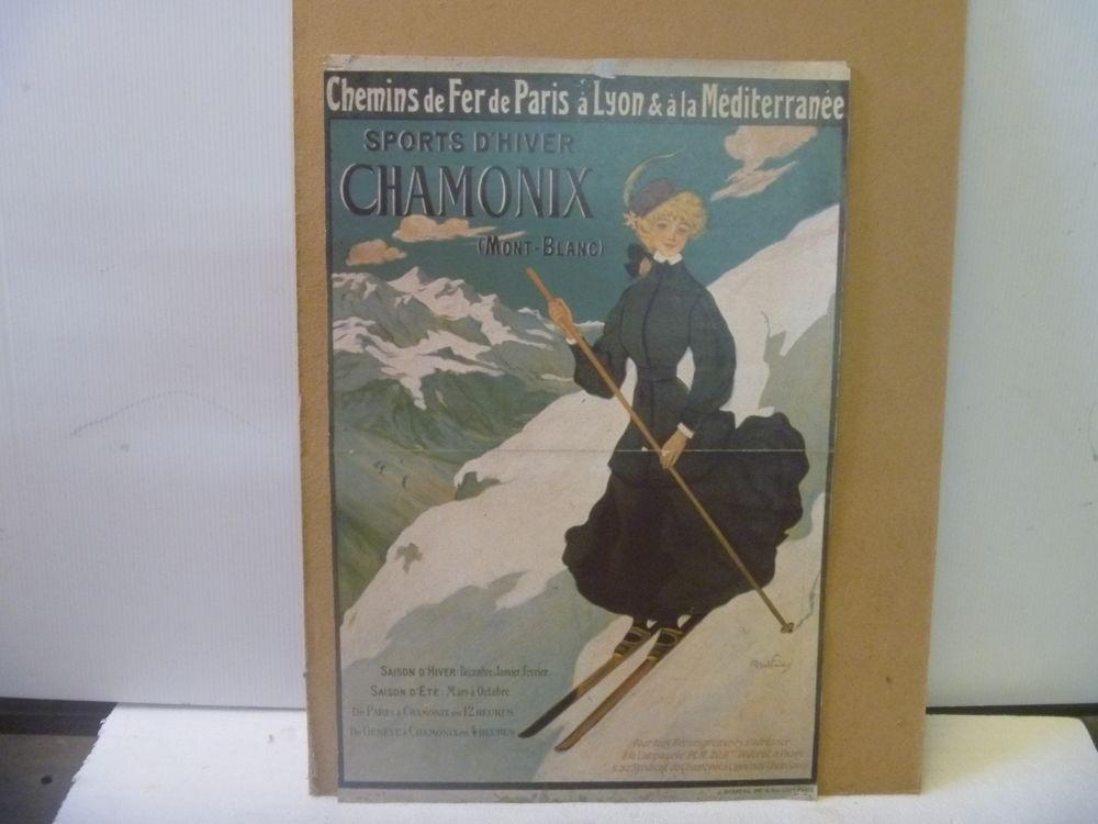 Affiche de collection sport d hiver 1920 40 Vénissieux (69)