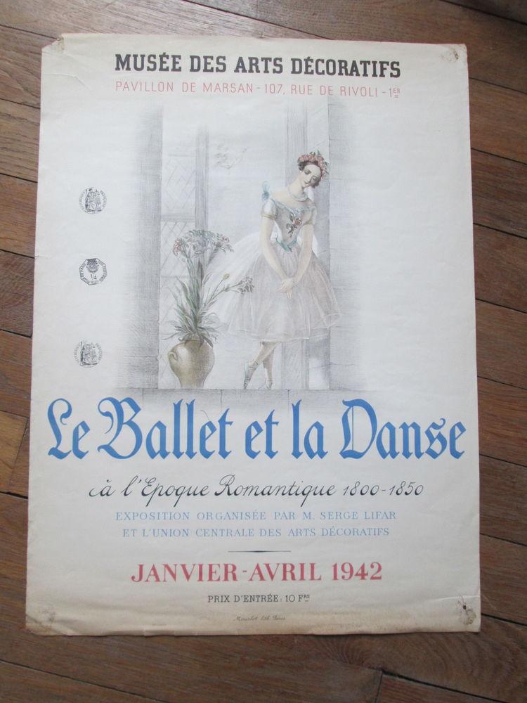 Affiche exposition Le ballet et la danse à l'époque romantiq 200 Herblay (95)