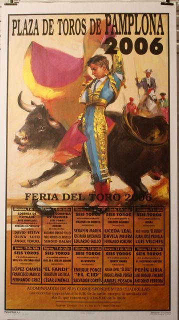 """AFFICHE """" FERIA DE PAMPLONA 2006 """" Décoration"""