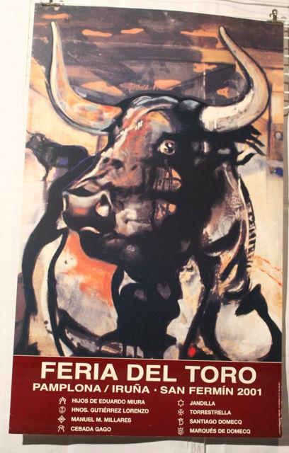 AFFICHE    FERIA DEL TORO PAMPLONA 2001   17 Anglet (64)
