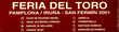 "AFFICHE "" FERIA DEL TORO PAMPLONA 2001 "" Décoration"