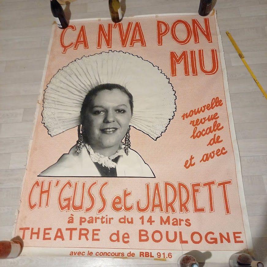 Affiche de la revue locale de Boulogne sur mer, avec Ch'Guss 50 Saumur (49)