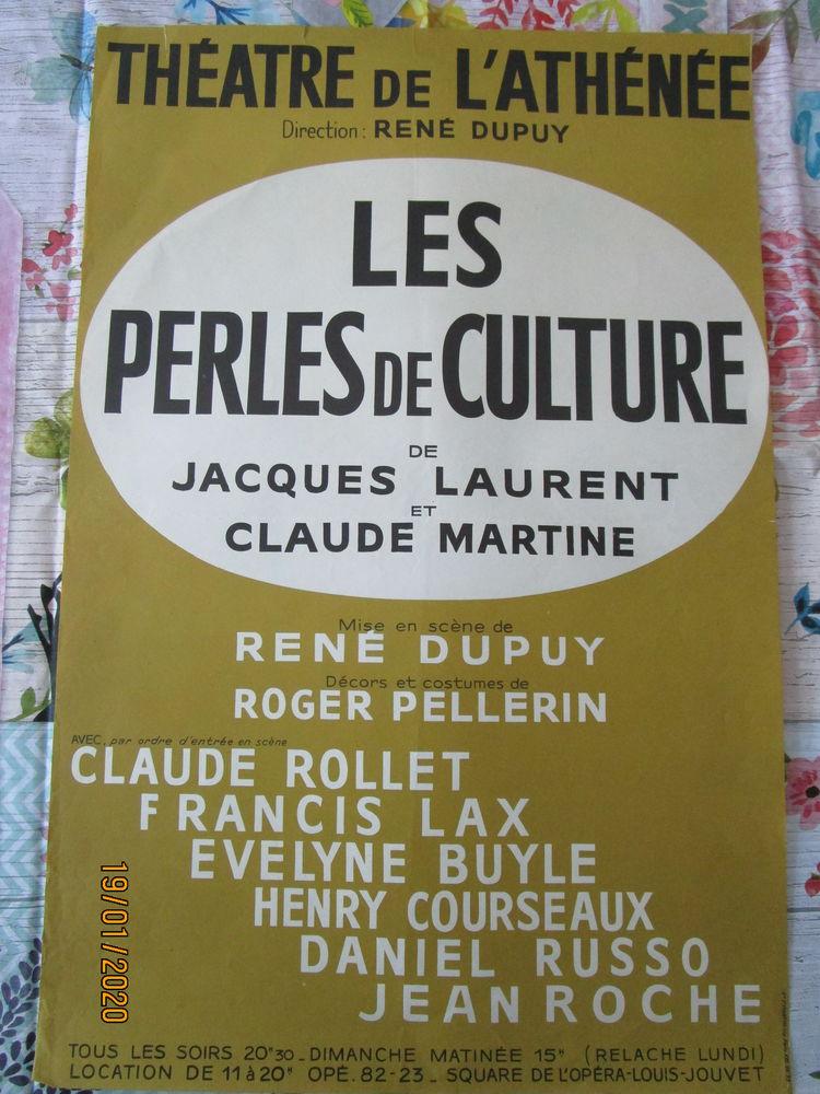 Affiche de théâtre   LES PERLES DE CULTURE     8 Chanteloup-en-Brie (77)