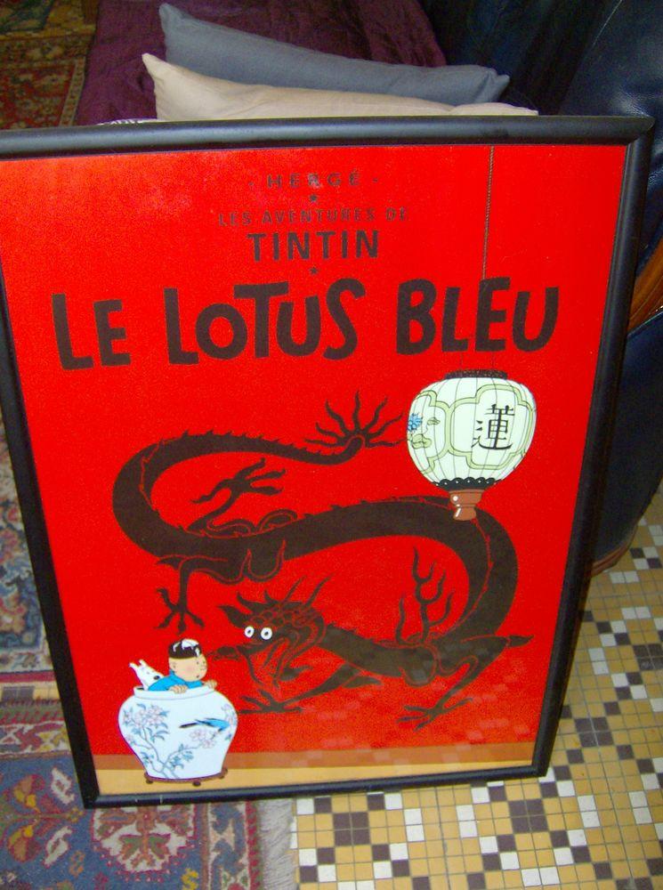 AFFICHE   TINTIN LE LOTUS BLEU'' 34 Poix-du-Nord (59)