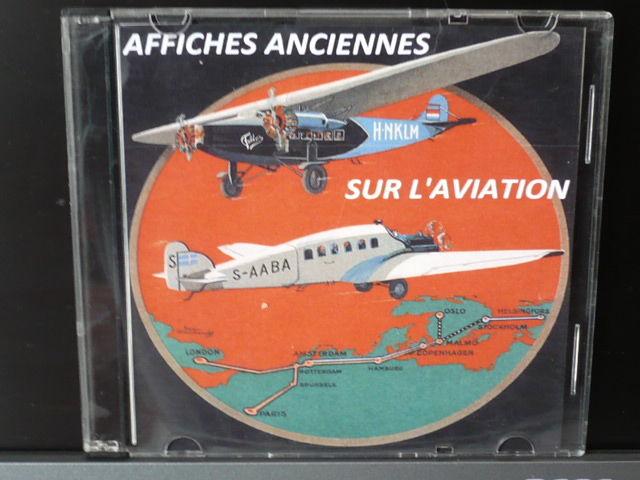 350 AFFICHES ANCIENNES SUR L'AVIATION sur un CD ROM CD et vinyles