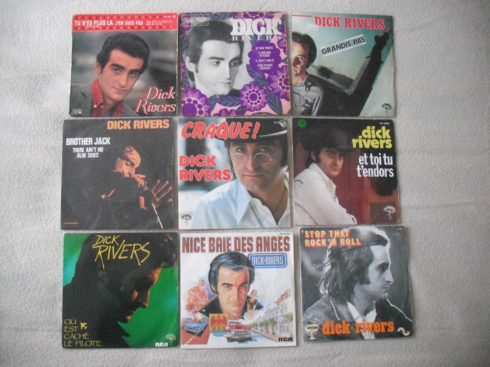 lot de 45t+ affiches de concert + bouteille de  DICK RIVERS. 70 Quillan (11)