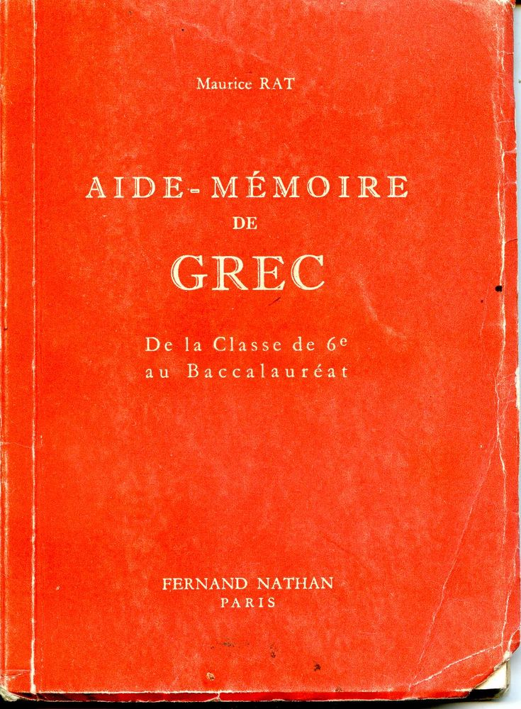 Aide-Mémoire de Grec - Maurice Rat, 10 Rennes (35)