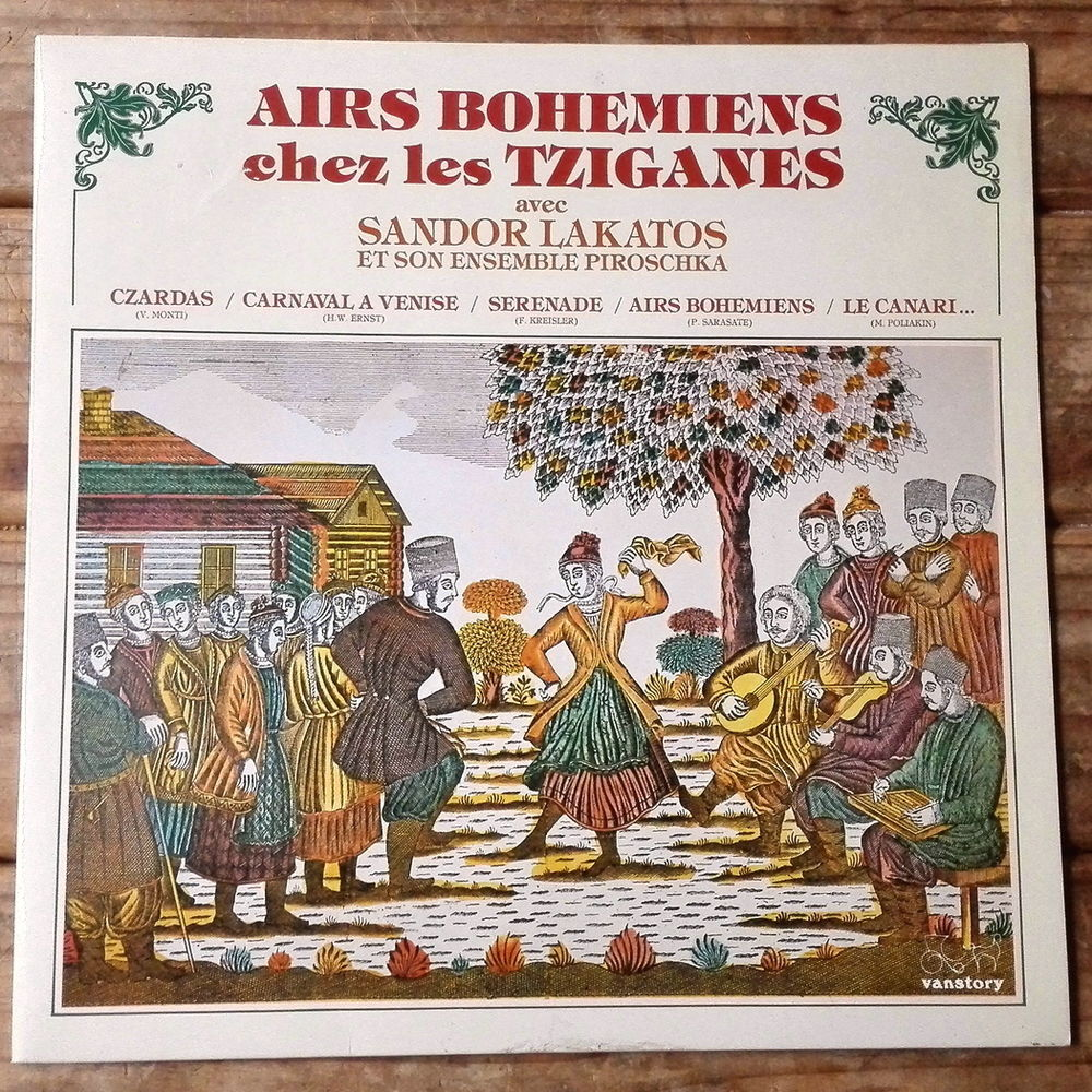 AIRS BOHÉMIENS CHEZ LES TZIGANES -33t- SANDOR LAKATOS - 1983 15 Tourcoing (59)