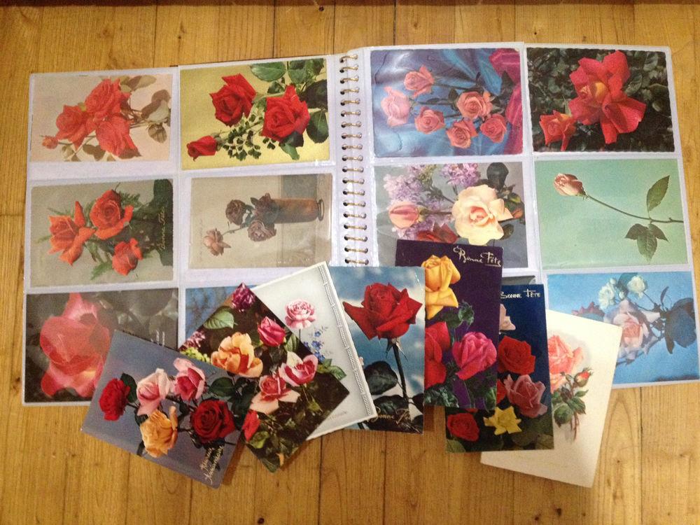 Album + de 120 cartes postales thème fleurs Roses Rose  25 Lyon 1 (69)