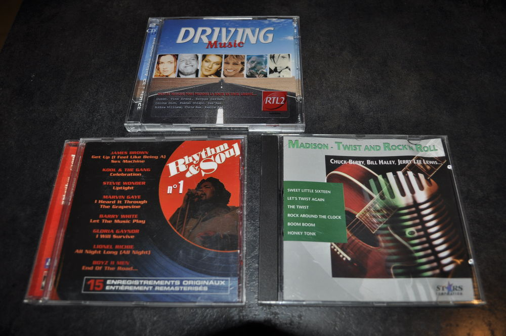 Album CD compilation  Driving Music  RTL2 8 Perreuil (71)